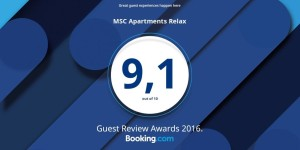 Relax booking award 2016